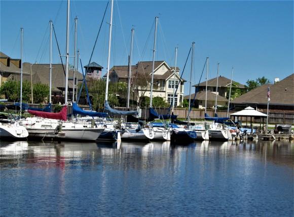 boats on marina lakeshore park april 10