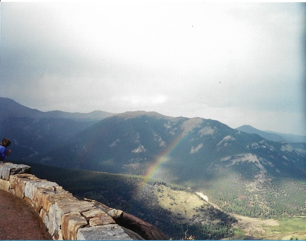 rainbow on colorado mountain