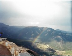 rainbow on colorado mountain